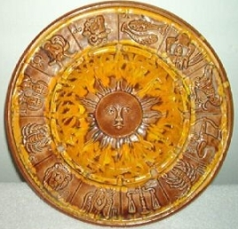 zodiac vintage plate old
